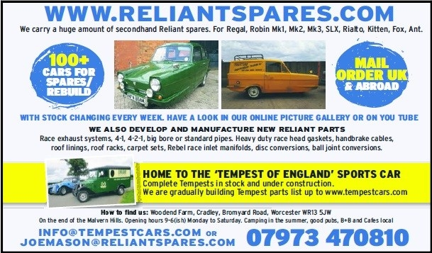 Reliant Spares advert regal